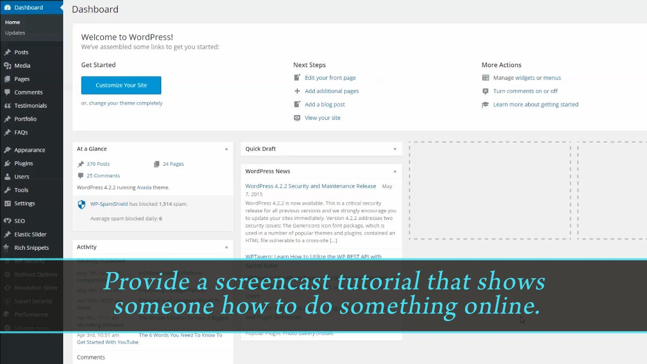 narrate a screencast